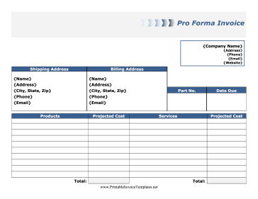pro forma income projection template .