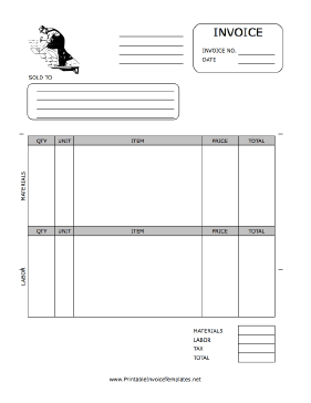 Roofer Invoice Template